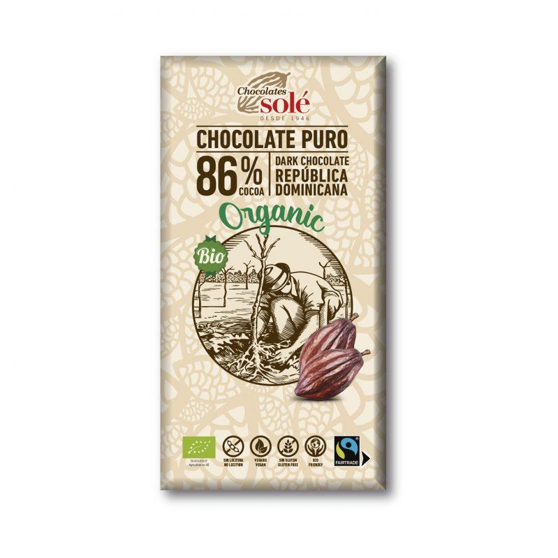 Chocolate Negro 86% Cacao 100g BIO