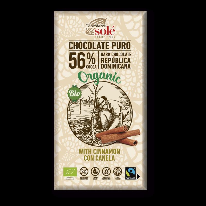 Chocolat noir BIO à la cannelle 100 g