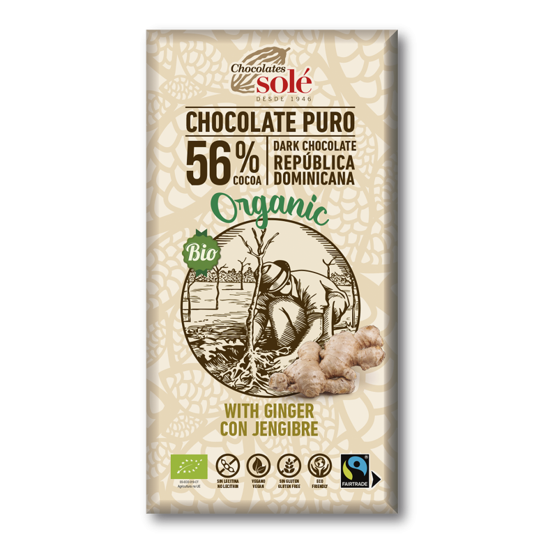 Dark Chocolate BIO with Ginger 100 g