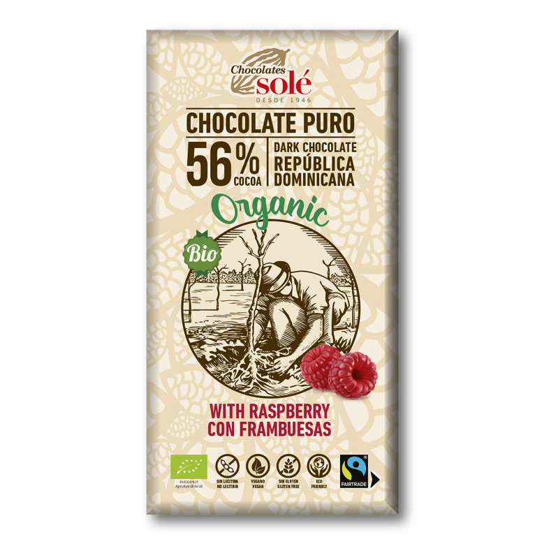 Dark Chocolate BIO with Raspberries 100 g