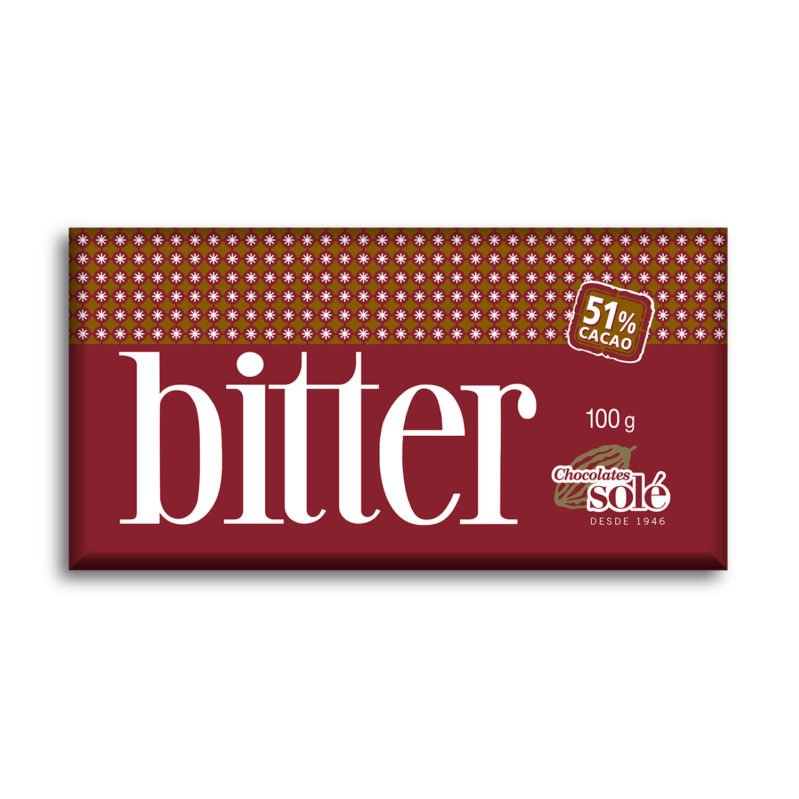 Chocolate Bitter 51% Cacao 100g