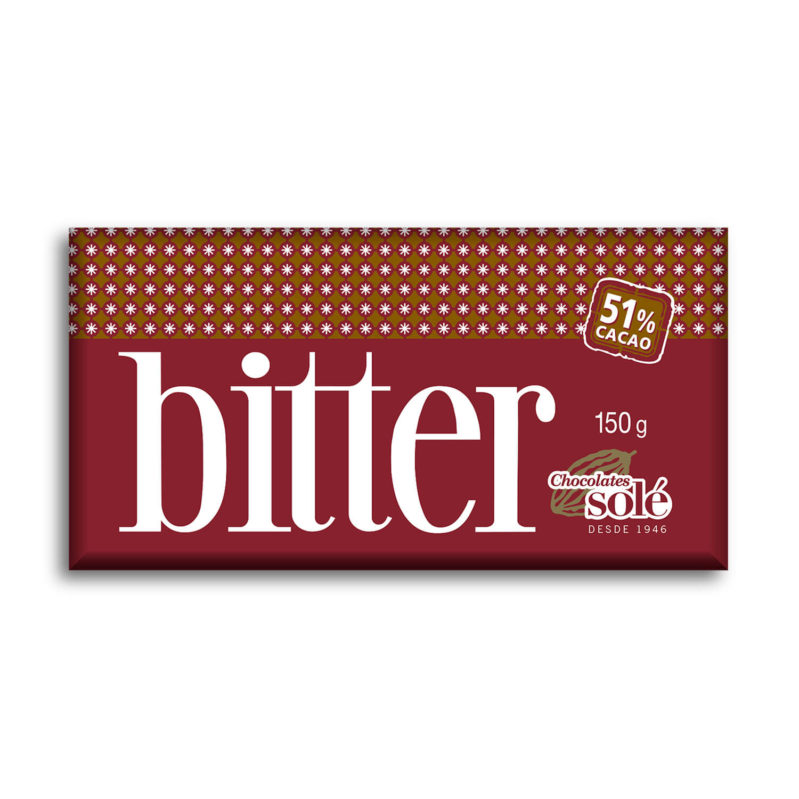 Chocolate Bitter 51% Cacao 150g