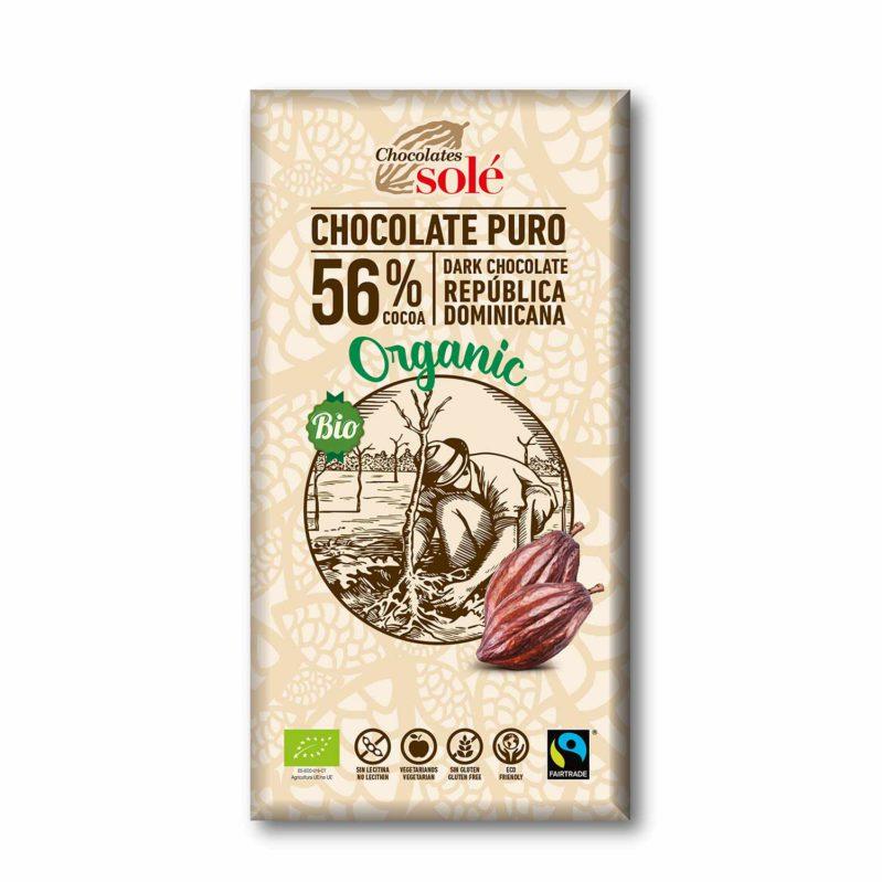 Chocolate Negro 56% Cacao 100g BIO