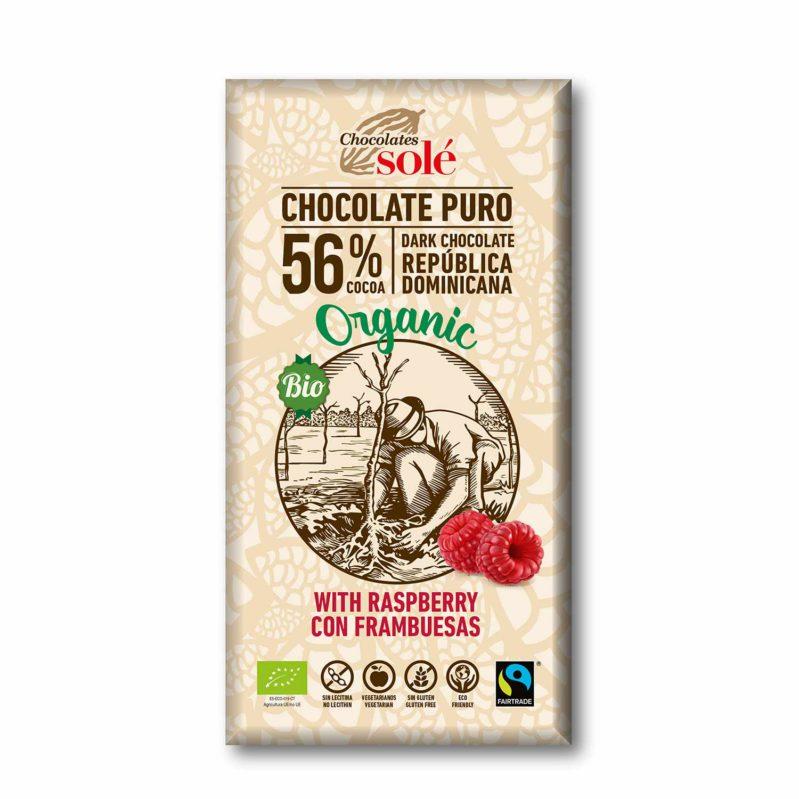 Chocolate Negro con Frambuesas 100g BIO