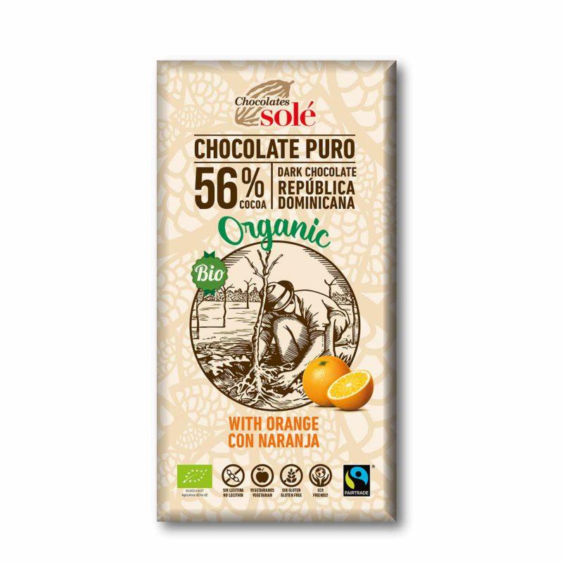 Chocolate Negro con Naranja 100g BIO