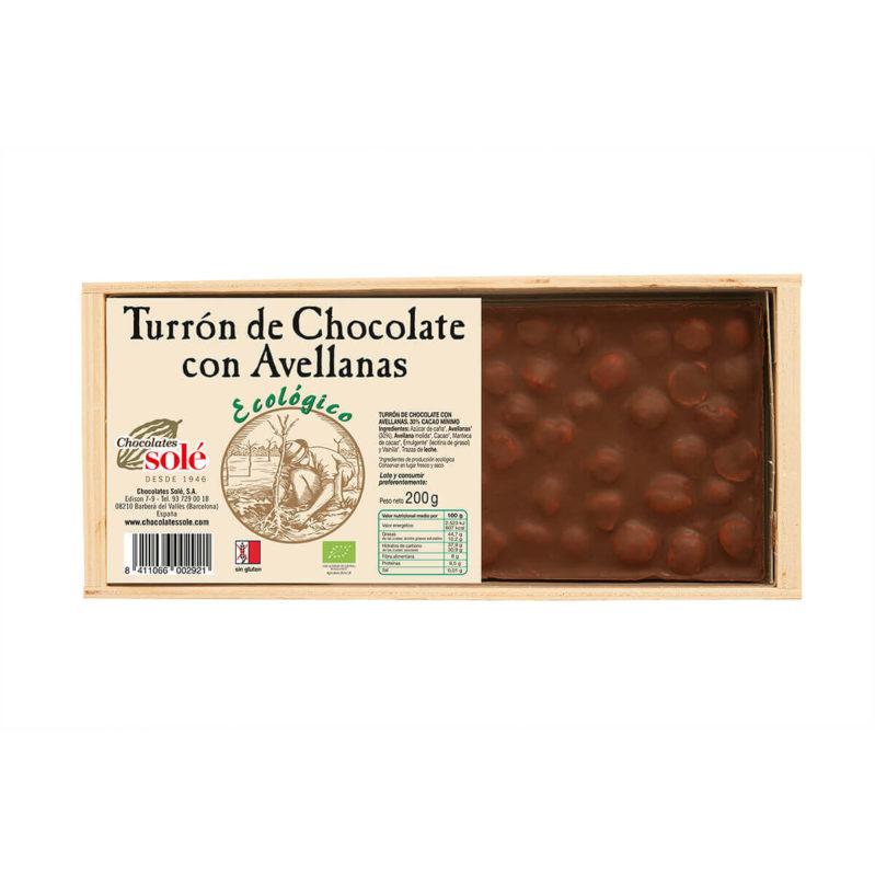 Turrón de Chocolate con Avellanas 200 BIO