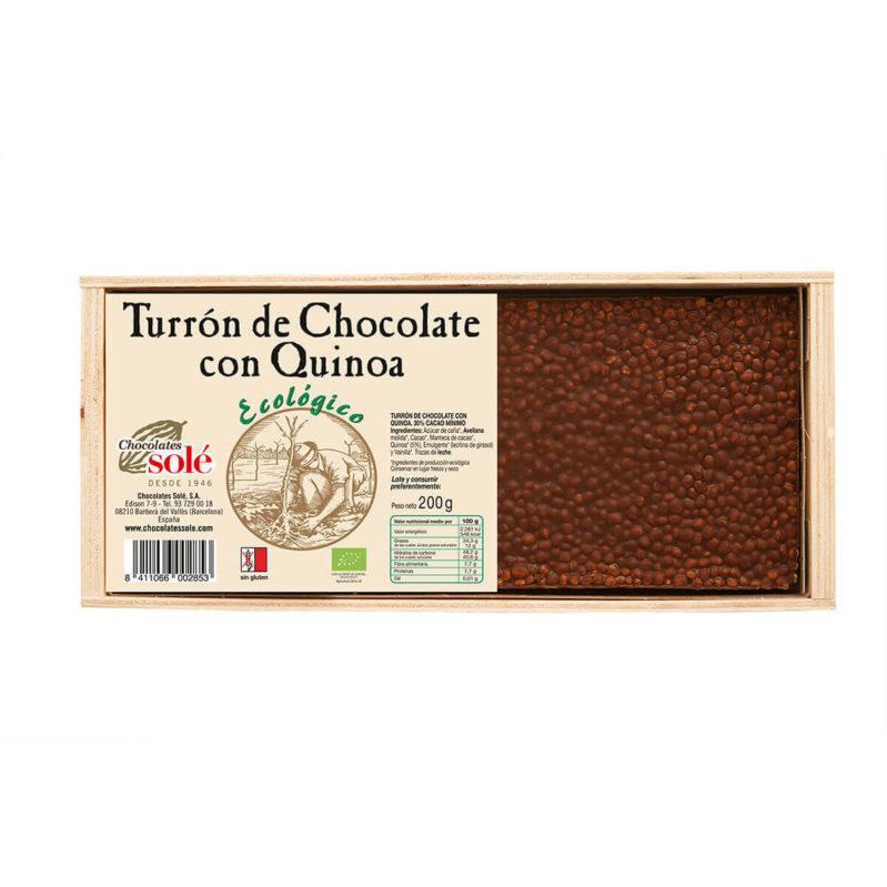 Turrón de Chocolate con Quinoa 200g BIO