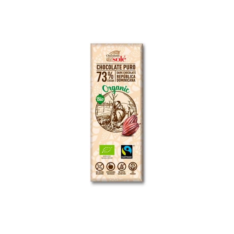 Chocolate Negro 73% Cacao 25g BIO