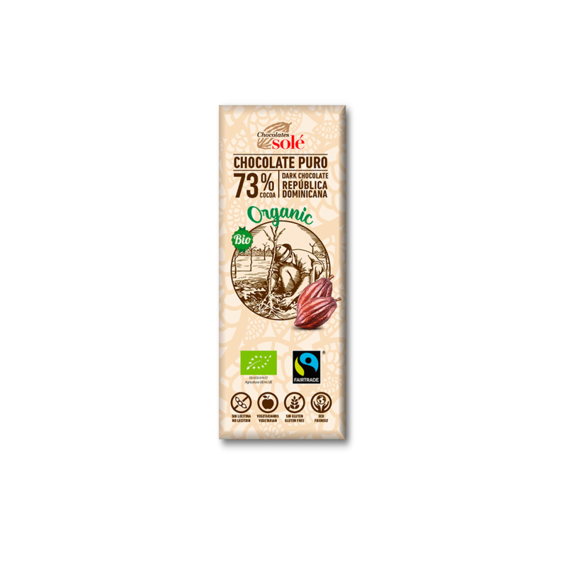 Dark Chocolate BIO 73% Cocoa 25 g