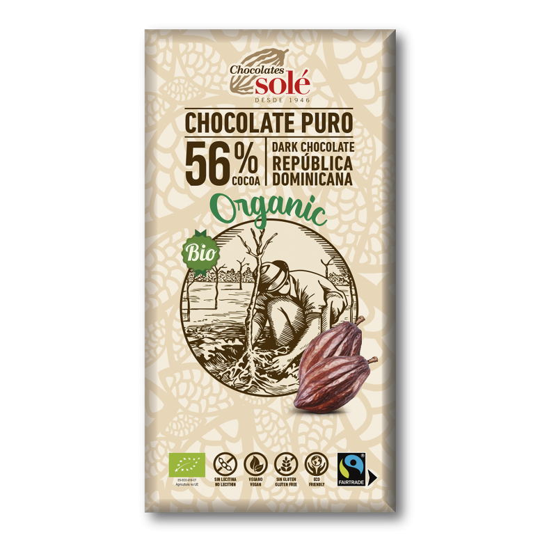 Dark Chocolate BIO 56% Cocoa 100 g