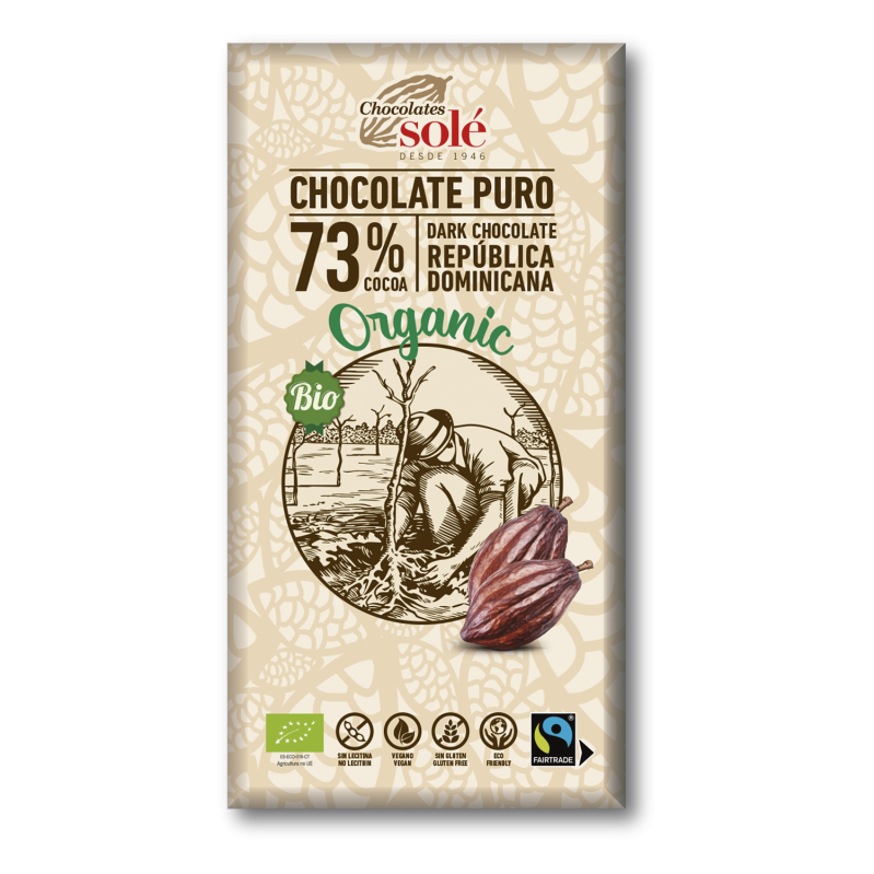 Dark Chocolate BIO 73% Cocoa 100 g