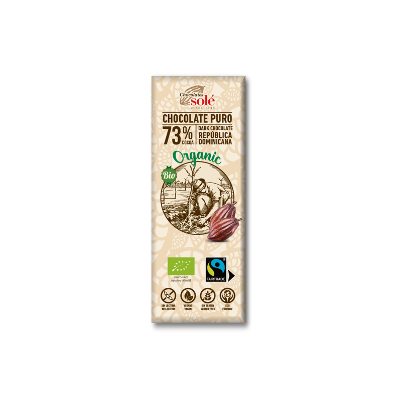 Dark Chocolate BIO 73% Cocoa 25 g