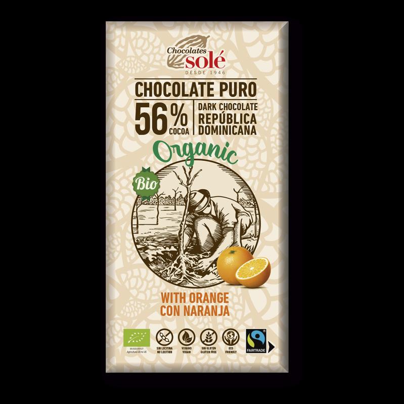 Chocolat au lait à l'orange BIO 100 g