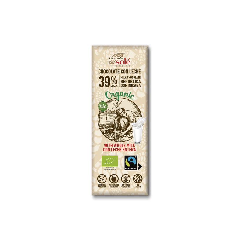 Chocolate con Leche 25g BIO