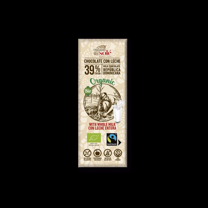 Chocolat au lait BIO 25 g