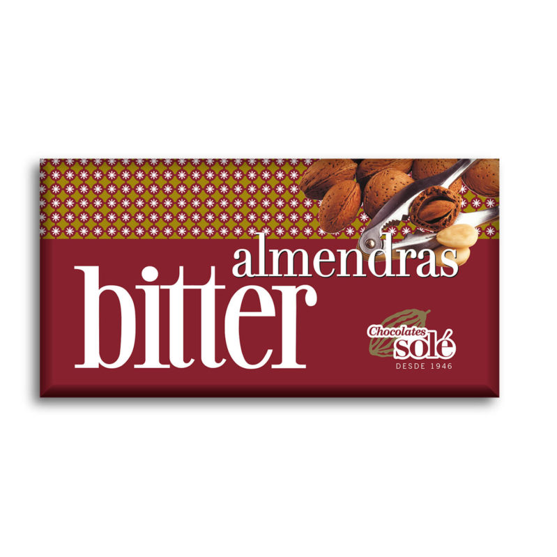 Bitter Chocolate with Almonds 51% Cocoa 150 g