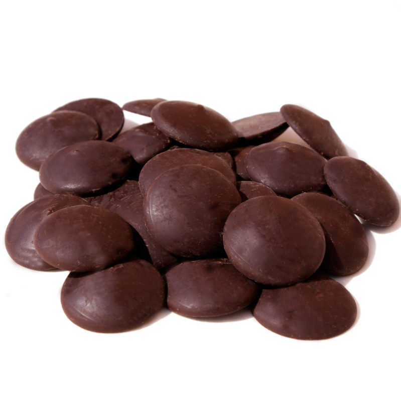 Dark Couverture Chocolate Chips 60% agave for coating