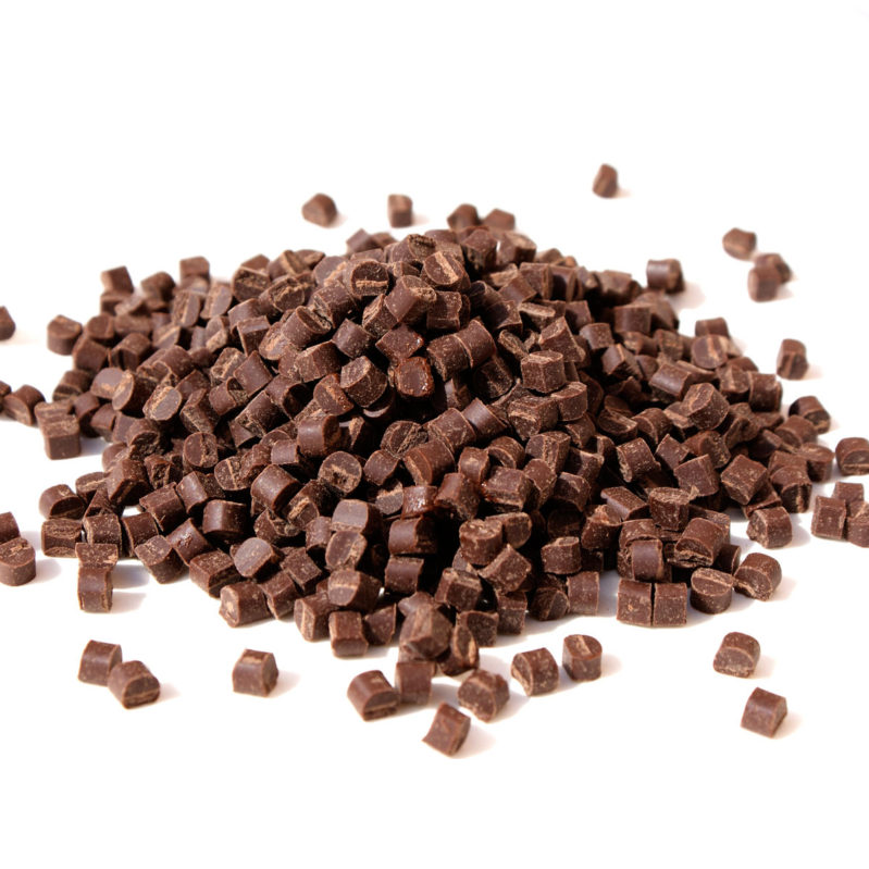 Chopped Dark Chocolate 53% BIO agave for baking