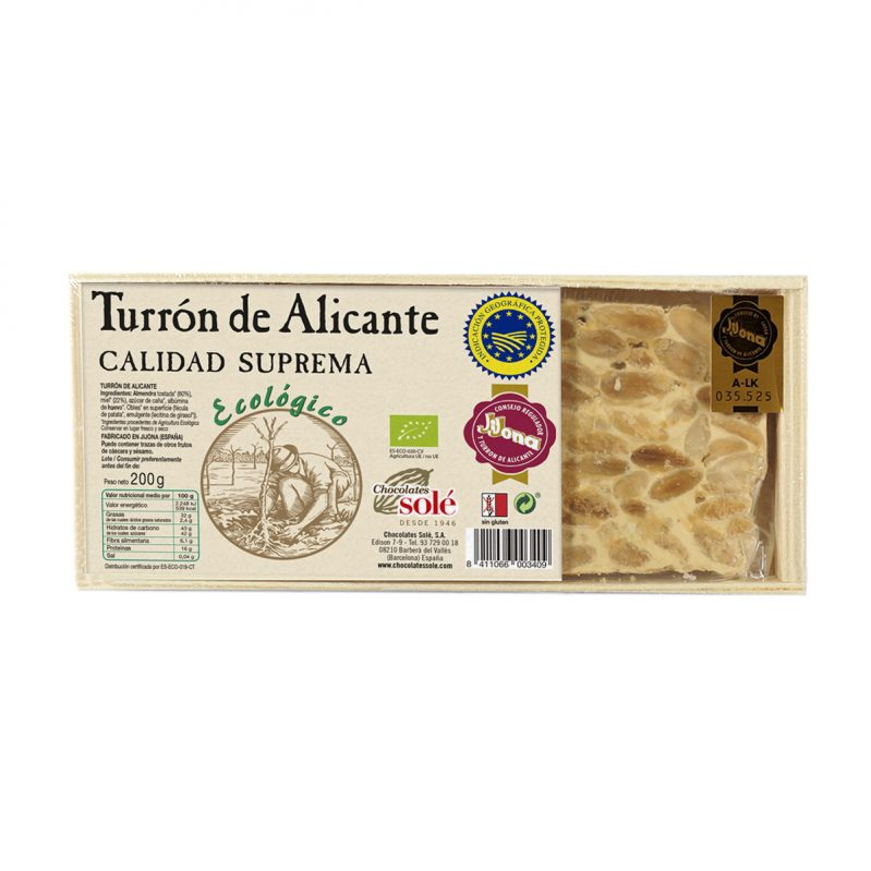 Alicante Nougat 200g Bio