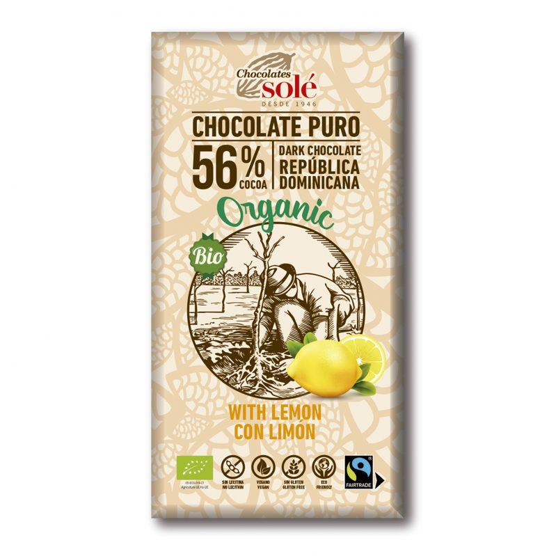Chocolat au lait bio au citron 100 g